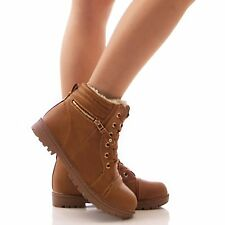 NEW LADIES WOMENS BIKER BOOTS LACE UP FASHION CASUAL STYLE SHOES SIZES 3-8