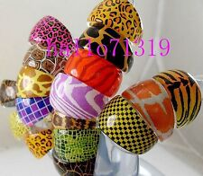 60 X Animal Skin Mixed Fashion party bags Resin Rings Wholesale Jewelry Lots