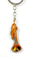 Musical Trumpet Keyring - Metal - Music Themed Gift - Trumpet Gifts - Keyrings