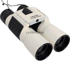 30x40 Binoculars Telescope Metal White Night Vision for Camping Hiking Hunting