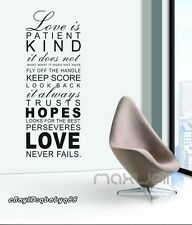 Love is House Family Rules Wall Sticker Quote Removable Decals Vinyl Decor Art