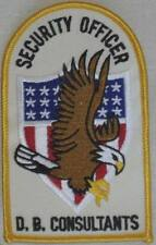 D.B. Consultants Security Officer Patch