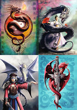 "Anne Stokes Greeting Cards: Set of 4 ""Eastern Promise"" Series * NEW Dragon"
