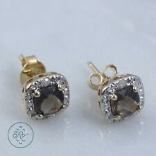 Sterling Silver & 18K Gold - VICTORIA TOWNSEND Smoky Quartz 1g - Post Earrings