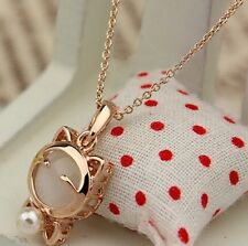 Gold Plated Cat Statement Necklace For Woman
