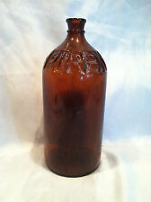 Collectible Vintage Purex Brown Glass Bottle, Top Is Cork Style Not Twist On