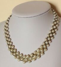 Vintage Style/Retro/Pearl Look/Bead/Necklace/Bib/Collar/Statement/Wedding