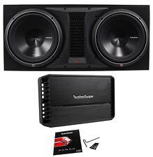 """Rockford Fosgate P3-2X12 Dual 12"""" 2400W Subwoofer+Enclosure+P1000X1BD Amplifier"""