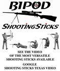 BIPOD Shooting Sticks for Rifle, Pistol, Shotgun, Bow  ***** INCLUDES Carry Case