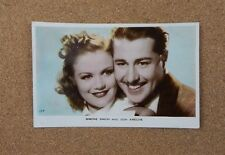 Simone Simon & Don Ameche  Art Photo. Real photo postcard xc2
