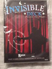 Invisible Card Deck - Magic Cards - Poker Size Red or Blue Playing Cards