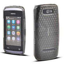Nokia 305 306 Asha - Housse étui silicone souple noir transparent