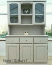Pine Dresser With Lights Painted in Farrow and Ball Elephants Breath - Soft Grey