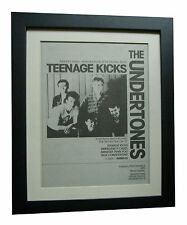 UNDERTONES+Teenage Kicks+POSTER+AD+RARE+ORIGINAL 1983+FRAMED+EXPRESS GLOBAL SHIP