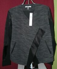 DKNYC Women's Ponte Faux Leather Faux Suede Pieced Cozy - Size S - NWT!!!!