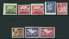 INDIA AZAD HIND 1943 (set of 8 different IMPERF) VF MNH LOT 1