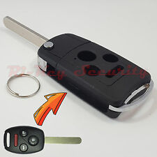 New Flip Key Modified Case Shell For Honda Remote Key 4 Buttons Accord Civic CRV