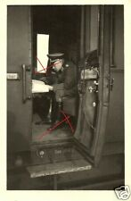 18923/ Originalfoto 6x9cm, Batl. Kommandeur Oberst Koretty im Zugabteil