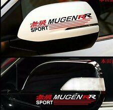 JDM 2pcs Car mugen power PVC badge sticker For honda rear-view review mirror