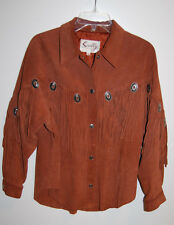Western Jacket Scully Fringe Suede Genuine Leather Women Sz 12 Concho Rodeo