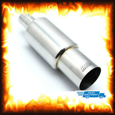 "3.5"" Inch Stainless Big Bore Jap Style Exhaust Race Sports Rear Back Box Muffler"