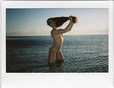 OOAK Original Instax Wide Polaroid Photo - Nude Woman Brunette Nature Playboy