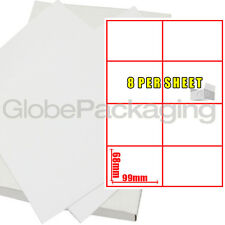 50 Sheets Of Printer Address Laser Labels 8 Per Page