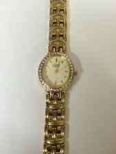 Women's Citizen Gold Tone Watch Stones Bezel 5920-S028671