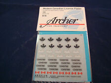 ARCHER FINE TRANSFERS MODERN CANADIAN LICENSE PLATES LEAVES AR35154 1:35 NEW