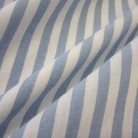 Stoff Meterware Baumwollstoff Streifen gestreift hellblau weiß 1 cm durchgewebt