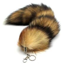 Exquisite Faux Fox Tail Keychain Fur Tassel Bag Tag Charm Keyring Bag Accessory