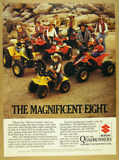 1986 Suzuki QUADRUNNER 8 ATV Models quadracer quadsport photo vintage print Ad