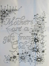 TriChem#3676  MOTHERS R A GIFT FROM GOD Liquid Embroidery Picture U PAINT  Cameo
