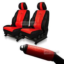 Sports Bucket Car Seat Cushion 2pcs Parking Brake Handle Cover Red for HYUNDAI