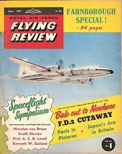 RAF FLYING REVIEW SEP 59 FACSIMILE: FAIREY DELTA 2 CUT AWAY/ FIAT G50/ AICHI B7