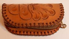 Hand Tooled Leather Zip-up Change Purse Small Catch-all Key Holder, etc.     E