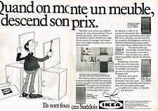 PUBLICITE ADVERTISING 064  1982  IKEA   meubles SUEDOIS 2 ( 2 pages)