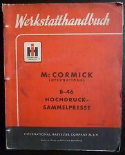 IHC Ballenpresse B46 Werkstatthandbuch