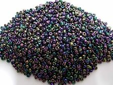 50g 4mm 6/0 Glass Seed Beads PURPLE IRIS AB ( Delivery Free Australia )