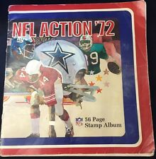1972 NFL ACTION 56 PAGE STAMP ALBUM COMPLETE (624 STAMPS)   (002)