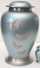ELEGANT ADULT BRASS BUTTERFLY FUNERAL CREMATION URN NEW URNS