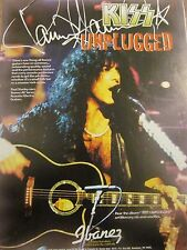 Paul Stanley, Kiss, Ibanez Guitars, Full Page Vintage Promotional Ad