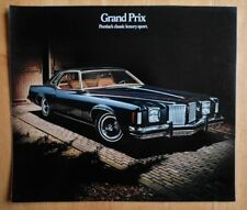 PONTIAC GRAND PRIX orig 1974 USA Mkt Large Format Sales Brochure
