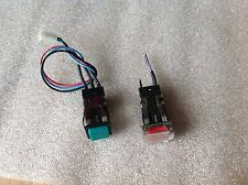 Qty:2  Micro Switch Red/Green Push Button, AML 20 Series On/Off