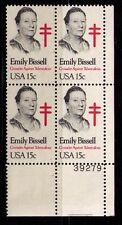 US USA Sc# 1823 MNH FVF PL# BLOCK Emily Bissell