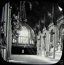 Glass Magic Lantern Slide LONDON GUILDHALL INTERIOR C1890 PHOTO ENGLAND