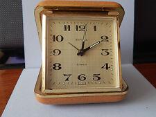 Vintage Estyma Wind-up Travel Alarm Clock 2 Jewels Old Germany