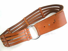Banana Republic Designer Womens Brown Leather Belt with Silvertone Buckle 193267