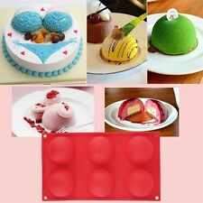 1pc 6 Half Ball Round Chocolate Cake Candy Soap Mold Flexible Silicone Mould LIk