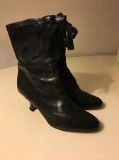 Clarks Victorian Style Black Boots Size 5.5 Barely Worn